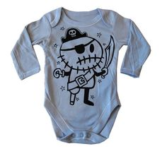 Pirate Onesie from Rocky The Zombie #baby #etsy #pirate