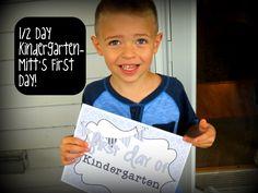 1/2 Day Kindergarten When It Wasn't Offered/Mitt's First Day