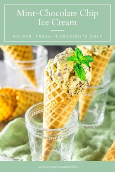 This fresh mint ice cream is ultra creamy and rich and the perfect summer dessert. The fresh mint uses makes this homemade mint chocolate chip ice cream the best ice cream ever. #freshminticecream #freshmintuses #minticecreamrecipe #mintrecipes #minticecream #homemademintchocolatechipicecream #mintdesserts Custard Desserts, Frozen Desserts, Fun Desserts, Delicious Desserts, Vegetarian Desserts, Frozen Treats, Mint Recipes, Ice Cream Recipes, Summer Recipes
