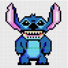 stitch looks like a demon Mine craft Pixel Art Templates