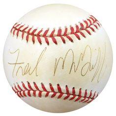 74d9ccb3e Fred McGriff Autographed Official NL Baseball Toronto Blue Jays Beckett BAS   C24192