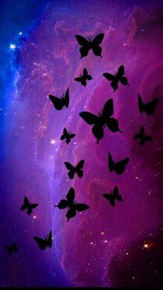 Dark Purple Wallpaper, Purple Butterfly Wallpaper, Glitter Phone Wallpaper, Butterfly Background, Purple Wallpaper Iphone, Cute Wallpaper For Phone, Cellphone Wallpaper, Aesthetic Iphone Wallpaper, Flower Wallpaper