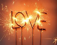 """""""love""""-ly sparklers"""