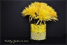 Great centerpiece idea using Easter candy.