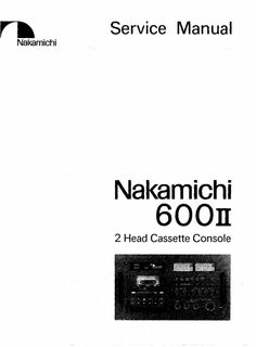 nakamichi 700 zxl original service manual nakamichi service rh pinterest com