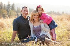 Family of 3 pose, photography