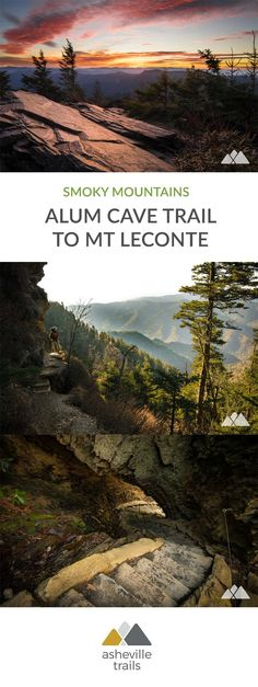 Climb to Mount Le Conte's stunning landscapes and summit views, following the Alum Cave Trail and Boulevard Trail in Great Smoky Mountains National Park. #hiking #trailrunning #camping #backpacking #smokymountains #gsmnp #greatsmokymountains #tennessee