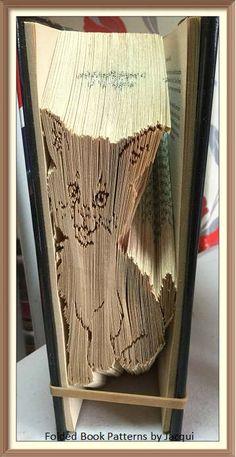 Kitten. Book Folding Pattern by JHBookFoldPatterns on Etsy