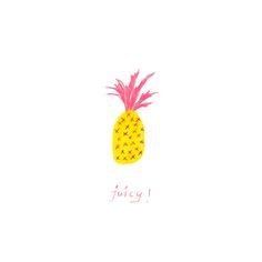Juicy, 2016 Pencil Crayon on Paper   Sketch by Jacquie Duruisseau  pineapple