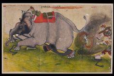 Ashmolean − Eastern Art Online, Yousef Jameel Centre for Islamic and Asian Art Indian Elephant, Elephant Art, Elephant Pictures, Indian Paintings, Indian Art, Online Art, Howard Hodgkin, Miniature Paintings, Miniatures