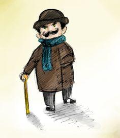 Poirot by Monkey-sama on deviantART Agatha Christie's Poirot, Hercule Poirot, Mystery Crafts, Pepe Le Pew, Miss Marple, Warm Fuzzies, Sweet Life, Hercules, Bibliophile