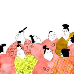 """From """"The Ooni of the Agi Bridge"""" (Japanese Folktale) illustrated by Sofie Bangsgaard"""