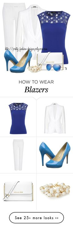 """""""~  Matching Blazer & Pants  ~"""" by pretty-fashion-designs on Polyvore featuring Joseph, Alexander McQueen, Michael Antonio, MICHAEL Michael Kors, The Limited and Michael Kors"""