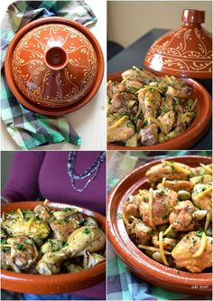 Tajine-di-pollo-marocchina-con-olive-verdi-e-limoni-confit Greek Recipes, Italian Recipes, Pollo Chicken, Tagine Recipes, Arabic Food, World Recipes, Couscous, Food And Drink, Menu