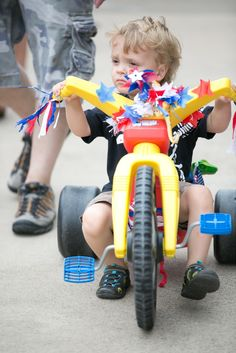 Rocket Ship 4th Of July Bike And Stroller Decoration Ideas