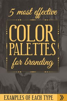 The 5 Most Effective Types of Color Palettes For Branding {including examples of each} #websites