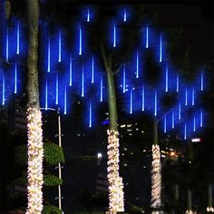 meteor shower rain tubes 144led 8 tubes ac100 240v led string christmas lights wedding party