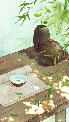 Cre: On pic - Blumen Scenery Wallpaper, Galaxy Wallpaper, Japon Illustration, Art Asiatique, Anime Scenery, Aesthetic Art, Chinese Art, Landscape Art, Japanese Art