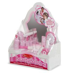 Who doesn't love Melissa and Doug ...! http://www.bellylaughs.ca/products/melissa-and-doug-beauty-salon-play-set?utm_campaign=social_autopilot&utm_source=pin&utm_medium=pin