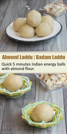 Almond Laddu can be prepared within 10 minutes using Almond flour. Badam Laddu is perfect for quick evening snack or healthy sweet. Almond Flour Muffins, Almond Flour Recipes, Indian Dessert Recipes, Indian Sweets, Vegetarian Platter, Vegetarian Food, Healthy School Snacks, Modern Food, Fusion Food