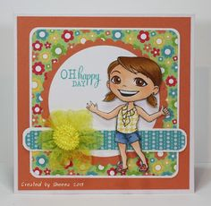 handmade greeting card featuring image from @?? ? Fumi Handmade and sentiment from @Vanessa Jacky-Davis Stamps . Papers are from @Brittney Pippin Design Inc