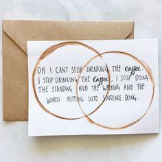 HAND-WRITTEN Gilmore Girls Coffee Card