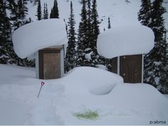 I hope there is a heater inside these outhouses.