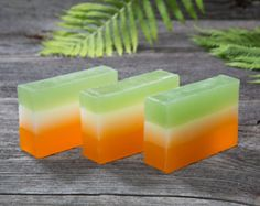 Irish soap - Irish Flag Glycerin Soap - Soap layered in the colors of the Irish Flag - Handmade Glycerin Soap