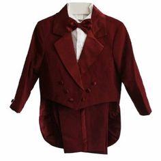 Burgundy & White Baby Boy & Boys Tuxedo Suit, Special occasion suit, Tailcoat, Pants, Shirt, Bowtie & Cummerbund FineBrandShop. $31.90