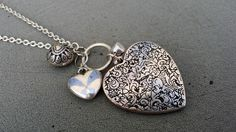 """Fashion Heart Charms Necklace, 30"""""""