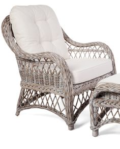 Rattan Olympia Chair and Footstool – Allissias Attic & Vintage French Style