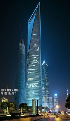 Shanghai World Financial Center by dickmann Unusual Buildings, Amazing Buildings, City Buildings, Modern Buildings, Futuristic Architecture, Beautiful Architecture, Contemporary Architecture, Architecture Design, Tower Building