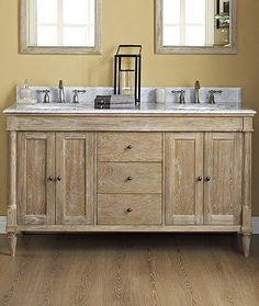 Fairmont Designs 142-V6021D Rustic Chic 60 Inch Vanity Double Bowl In Weathered Oak