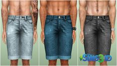 Denim shorts by David Veiga - Sims 3 Downloads CC Caboodle