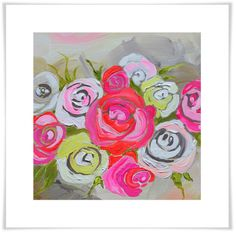 Spring Floral I GreenBox - framed print or stretched canvas