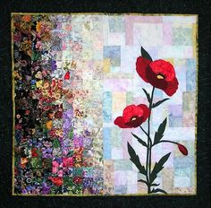 poppy quilt - idea for wall hanging in office. Need browns, reds and golds however.
