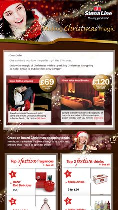 Christmas shopping email marketing campaign.