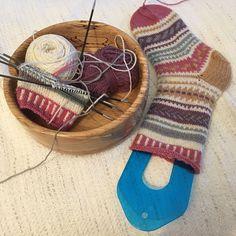 Traditional Finnish folk designs - PDF Instant Download Sock Knitting Pattern Knitting Kits, Knitting Designs, Knitting Socks, Knitting Patterns, Fingering Yarn, Types Of Heels, Yarn Bowl, Wool Socks, Needles Sizes