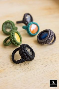 Check out this item in my Etsy shop  https://www.etsy.com/listing/273723108/macrame-ring-crochet-ring-macrame-rings?ref=shop_home_active_24