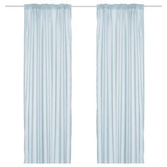 IKEA - VIVAN, Curtains, 1 pair, , The curtains let the light through but provide privacy so they are perfect to use in a layered window solution.The curtains can be used on a curtain rod or a curtain track.The heading tape makes it easy for you to create pleats using RIKTIG curtain hooks.You can hang the curtains on a curtain rod through the hidden tabs or with rings and hooks.