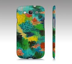 PARADISE WAITS Samsung Galaxy S3 or S4 Plastic Cell by EbiEmporium, $40.00 Beautiful exotic island colorful abstract fine art acrylic painting design, whimsical summer fun, tech device case, hard plastic cover