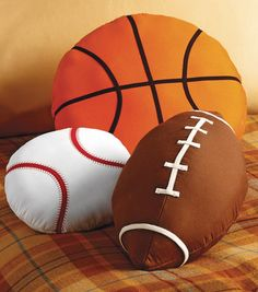 Favorite Sports Pillows | DIY Gift for Father's Day | Find sports fabric at Joann.com