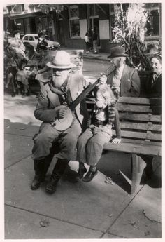 """Title: Booth Campbell and Child at the Ozark Folk Festival, Eureka Springs, Arkansas, ca. From Otto Ernest Rayburn Papers (MS """"Ozark Encyclopedia,"""" volume University of Arkansas Libraries Special Collections. Arbour Day, Eureka Springs, Folk Festival, University Of Arkansas, Group Pictures, World Music, Shutterfly, Around The Worlds, Couple Photos"""