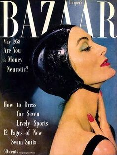 Carmen Dell'Orefice photographed by Gleb Derujinsky for Harper's Bazaar, May 1958 Carmen Dell'orefice, Francesco Scavullo, Fashion Magazine Cover, Fashion Cover, Look Magazine, Vogue Magazine, Richard Avedon, Magazin Covers, Harper's Bazaar