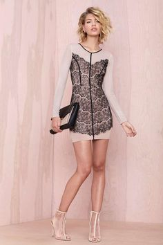 Chantal Lace Dress - Going Out | Body-Con | Lace Dresses | Dresses | All | Party Perfect | Lace + Fringe | All