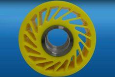 Polyurethane Wheels   Drive Wheel   Yellow Urethane Wheels www.sunray-inc.com