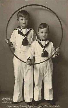 Erbprinz Friedrich Franz und Prinz Christian Ludwig von Mecklenburg-Schwerin