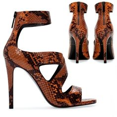 Zara Brown Snakeskin Heels Zara brown snakeskin heels, bloggers favorite, no trades, good condition, refer to photos ask below for any inquiries Zara Shoes Heels