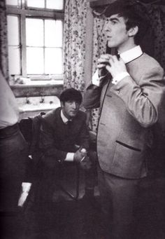 """""""John could be a bastard, but when it came to George Harrison, nothing was ever enough. When George came into the office [Apple], John would stop whatever he was doing to spend time with him. I think he viewed him as a younger brother."""" - Linda Reig (Apple Employee)"""