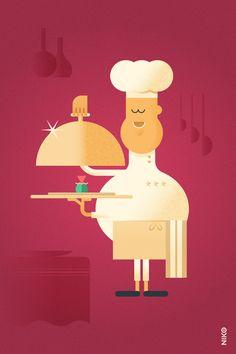 NIKO – Illustrateur › Le Chef Cuisinier